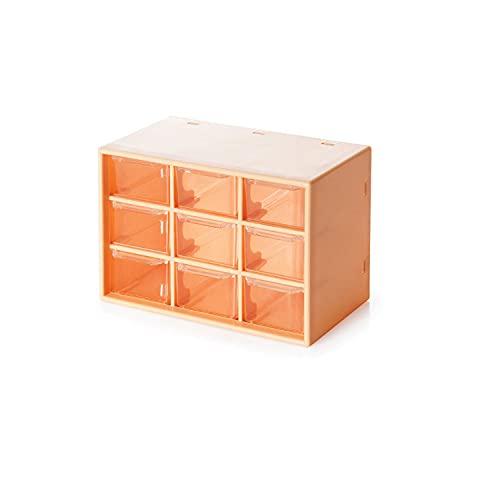 Caja de almacenamiento Jiugong de escritorio pequeño solicitante manos papelería y papel acceso a la joyería cajón caja poligonal blanco, 18 x 9,8 x 12 cm