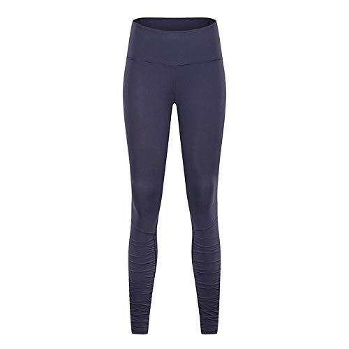 RRUI Sportswear Panty & Leggings voor dames Lycra dubbelzijdige mesh gaas nieuwe leggings vrouwelijke sportbroches fitness nieuwe kleding spandex zwart L