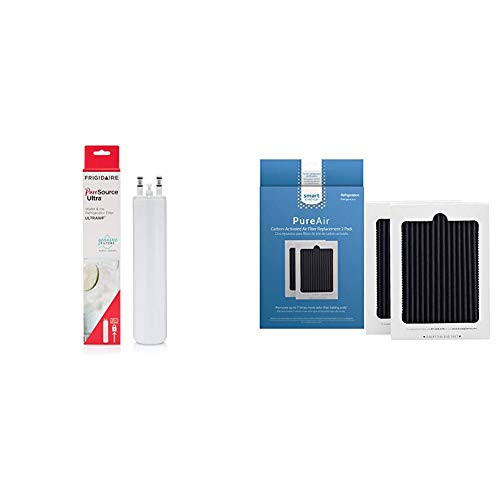 Frigidaire ULTRAWF PureSource Ultra Water Filter, Original, White, 1 Count & Smart Choice PureAir Ultra Air Filter, 2 Count