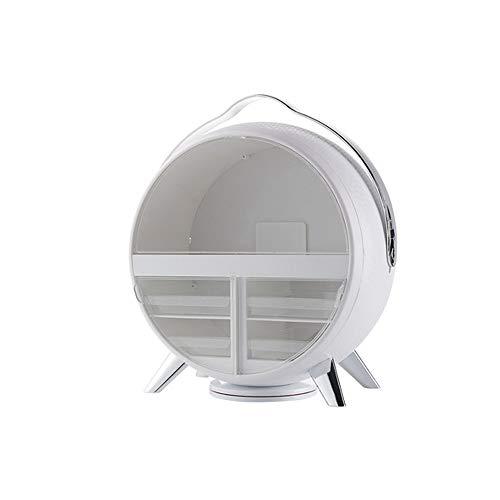 SMEJS Caja de Almacenamiento de cosméticos LED, Estante de Escritorio a Prueba de Polvo, Caja de Almacenamiento de cosméticos de Almacenamiento de tocador (Color : B)