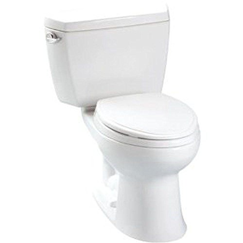 TOTO CST744E#01 Eco Drake Two-Piece Elongated 1.28 GPF Toilet, Cotton White
