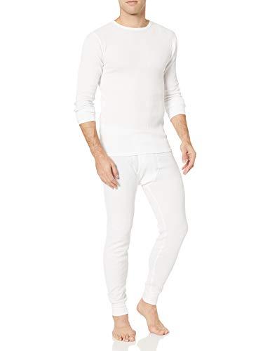 Amazon Essentials Men's Thermal Long Underwear Set, White, Large