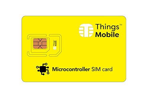 Tarjeta SIM para microcontrolador – Things Mobile – Cobertura Global, Red multioperador GSM/2G/3G/4G y sin costes fijos. Ideal para: Arduino, Raspberry, BeagleBoard, Intel, Tensy, etc.