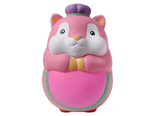 Alsino Squishies Squishy Anti Stress Squishie Knautschi Squeeze Spielzeug Slow Rising zum Drücken Stressabbau Kinder & Erwachsene, Variante wählen:SQ-222 Hamster rosa