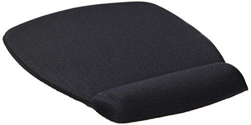 3M Foam Mouse Pad, Wrist Rest, Black, Antimicrobial Protection