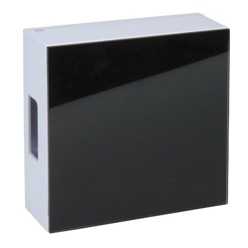UNITEC 47225 Zweiklang-Gong Luna, Glasplatte, schwarz