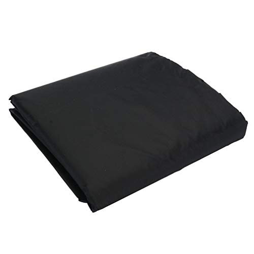 HehiFRlark Housse de mobilier de Table carrée étanche à la poussière et Anti-ultraviolets Noir 242 * 162 * 100cm