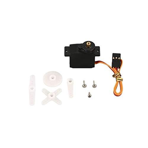 GzxLaY Nuevo servomotor Digital de Engranaje metálico de 9g 4,8-6 V 2,5 kg 0,10 Segundos / 60 'para avión RC de ala Fija 1/18 1/24 Robot de Coche RC