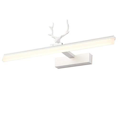 JIAYUAN LED-wandlamp voor badkamer Vanity, modern licht boven de spiegel van aluminium, 180 graden draaibaar, voor slaap- en badkamer