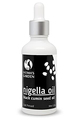 Nigella eļļa no Fatima dārza - melna ķimene sejai, matiem, ķermenim, nagiem - dabīgs mitrinātājs, auksti presēts, tīrs, jaunava - stiprina matus, bez 100% cietsirdības - 50 ml