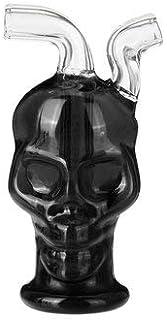 CCChaRLes Mini Crâne Tuyau D'Eau En Verre Crâne En Verre Pot De Fumer Accessoires Hoo Kah - Noir