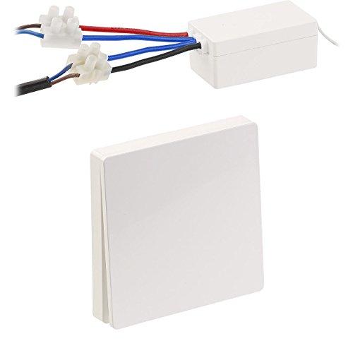 revolt Funktaster: Batterieloser Funk-Ein/Aus-Schalter und Funk-Empfänger, 2.200 Watt (Batterieloser Funkschalter)