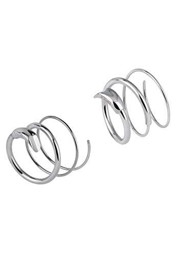 BREIL - Orecchini Donna Collezione WRAP TJ2896 - Gioielli Donna - Orecchini a Spirale in Acciaio Lucido - Colore Silver