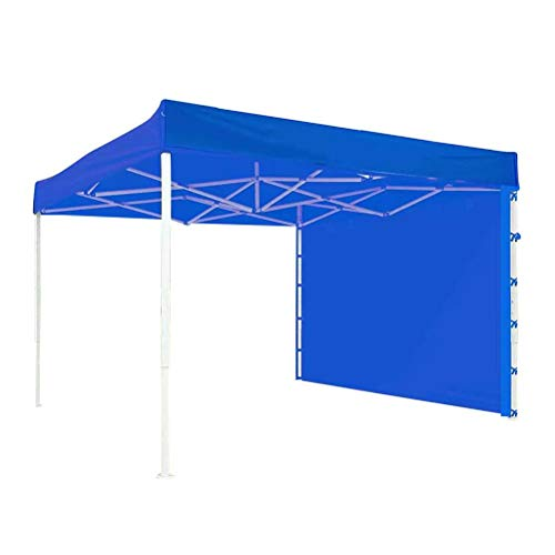 Lseqow Carpa de jardín Gazebo, Pared Lateral de Carpa con Dosel instantáneo, Tela Oxford Plegable Impermeable, Pared Lateral de Carpa con Dosel, 3x2m, Rojo, Azul