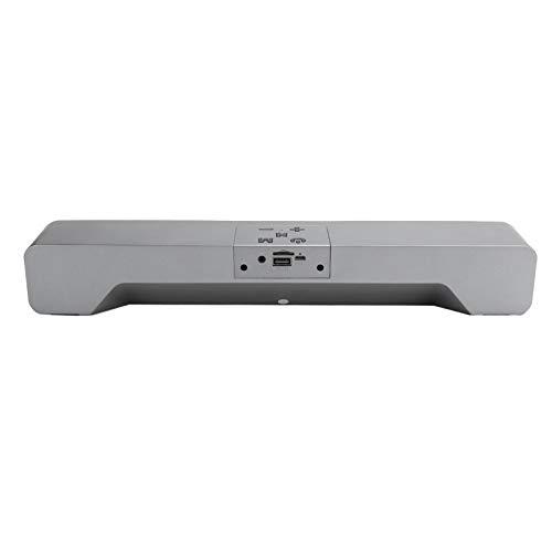 PUSOKEI Altavoz Bluetooth inalámbrico, Altavoces pequeños con Sonido Envolvente estéreo, Altavoz inalámbrico portátil, Tiempo de reproducción 6H, Soporte para Tarjeta de Memoria, Disco U, AUX(Gris)
