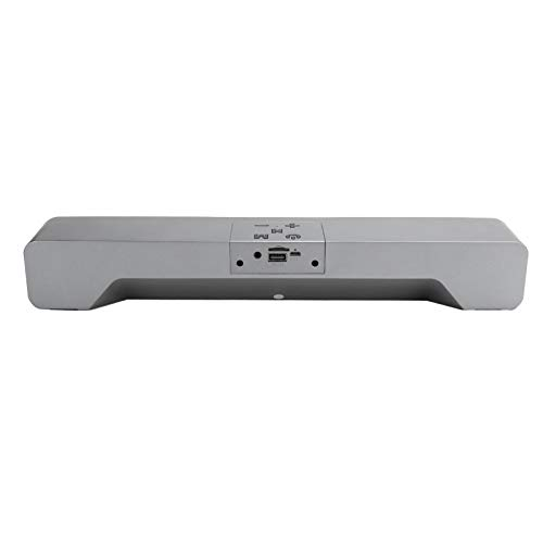Barra de Sonido USB,Barra de Sonido estéreo inalámbrica con Bluetooth,Reproductor de música para el hogar, Caja de Altavoz de Graves para computadora de Escritorio/computadora portátil/TV(Gris)