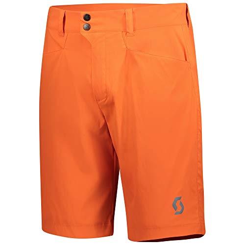 Scott Trail 2020 - Pantalón corto para bicicleta de montaña, color negro, Hombre, color naranja, tamaño xx-large