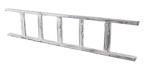 Kontorei 1x lang, witte houten ladder, gemodelleerd naar de oude landen, als garderobe/handdoekrek/om te decoreren, nieuw, 165cm