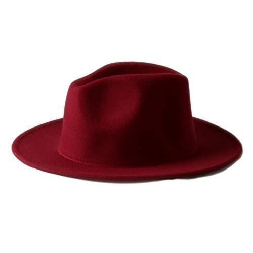 CHENGWJ Fedoras Cap Hommes Chapeau De Fedora en Laine À Larges Bords pour Hommes en Laine Trilby Hat Chapeau Panama Chapeau Church en Stock Haut Forme
