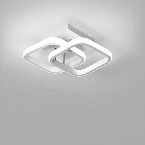Osairous Plafoniera a LED, Lampada da soffitto moderna 22W, Lampadario acrilico a 2 LED quadrati bianca, plafoniera per sala da pranzo, cucina studio, luce bianca fredda   6000K