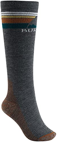 Burton Womens Emblem Midweight Sock, True Black, Medium/Large
