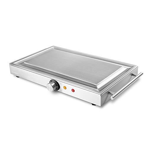TechniSat Edelgrill M1500TS Teppanyaki - Made In Germany (mobiler Profi Tischgrill, Plancha, Elektrogrill bis zu 250°C, präzise Temperaturregelung, Sandwichstahl für beste Wärmeverteilung)