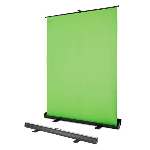 Fullwatt 134 x 200 cm Green Screen Professioneller tragbarer grüner Hintergrund mit Ständer, Chromakey-Hintergrund für Fotografie, Video, Live Gaming-Streaming,Virtual Studio - Grün