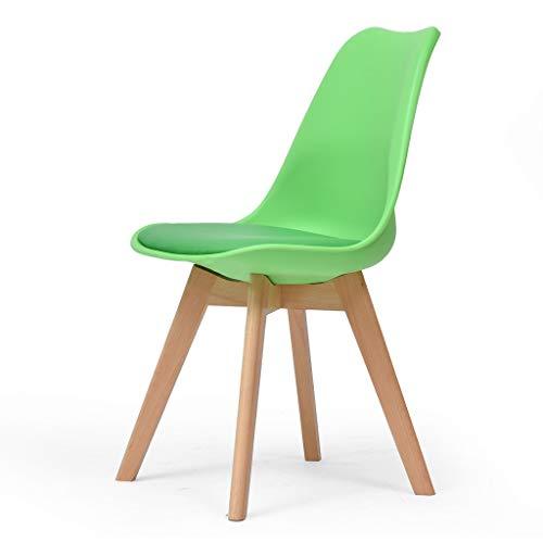 Yulan bureaustoel van massief hout, modern en modern, voor thuis, 43 x 43 x 46 cm