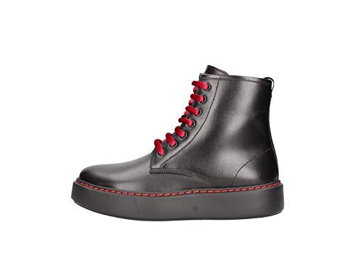 Frau Ankle Boots, Scarpe con Lacci Donna, NEROrosso, 37 EU