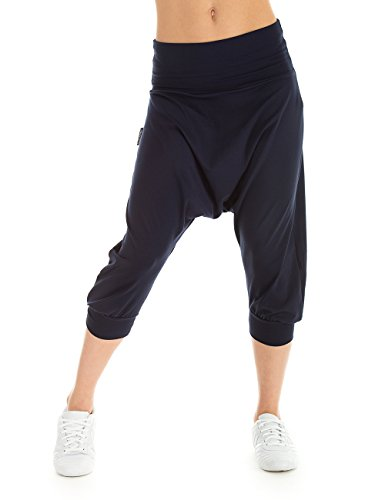 WINSHAPE Damen Trainingshose Dance Fitness Freizeit Sport Haremshose, Night Blue, L