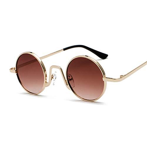 NJJX Gafas De Sol Redondas Vintage Para Mujer, Hombre, Gradiente De Color Caramelo, Gafas De Sol Para Mujer, Hombre, Gafas Al Aire Libre, Fiesta, Marrón Dorado