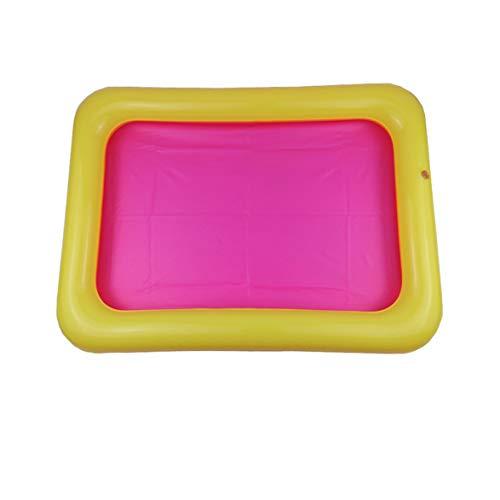 Sylvialuca Aufblasbare Sandkiste Castle Mobile Tisch PVC Sandkasten Sensorische Tablett Lustige Indoor-Spiel Spielzeug Pool Tablett für Kinder