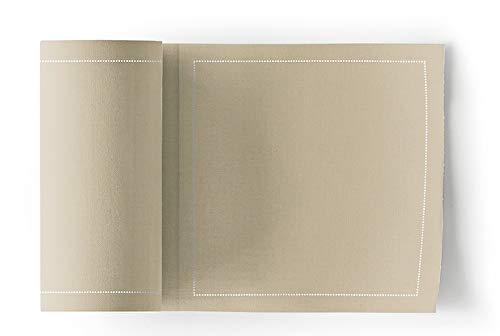 MYdrap Servilletas de cóctel, Algodón, color Marrón, tamaño 11x11 cm