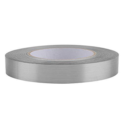 Etiqueta engomada de la línea de la grieta del piso, etiqueta engomada exquisita del PVC de la decoración, para la sala de estar del dormitorio de la cocina del baño(2 cm x 50 m (silver))
