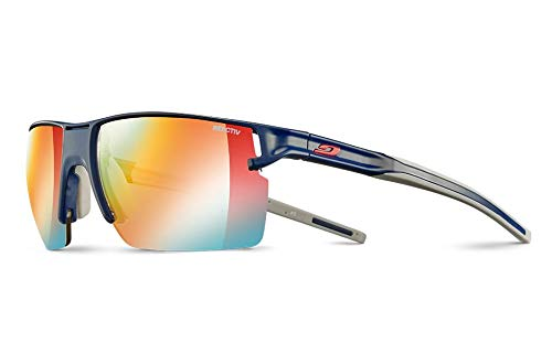 Julbo Outline - Gafas de sol para hombre, color azul oscuro y gris, FR: M (talla fabricante: M)