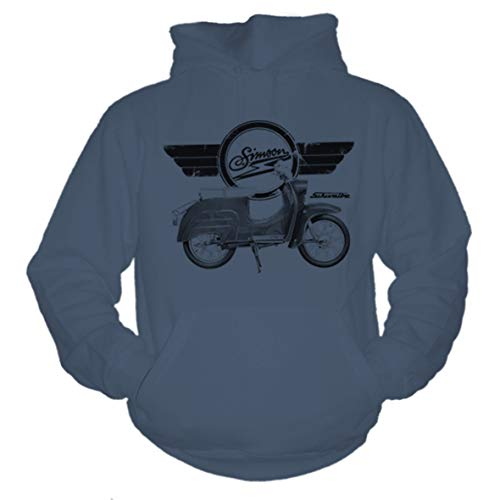 P-T-D S51 Simson Moped Mofa DDR Convoy Grey Hoodie Kapuzenpullover (L)