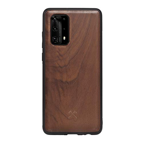 Woodcessories - Cover, Custodia Compatibile con Huawei P40 PRO in Legno Naturale - EcoBump