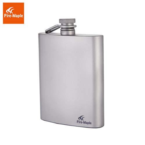 Fire-Maple Flachmann Bacchus hochwertig und extrem robust, Hip Flask aus Titan und Edelstahl 200ml