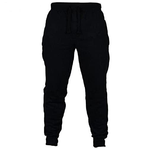Pantalones Casuales para Hombre Pantalones Deportivos de Cintura elástica con cordón de Color sólido Simple Pantalones Deportivos Europeos y Americanos de Entrenamiento para Correr Pantalones M