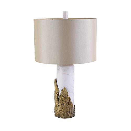 FAGavin Lámpara de mesa de lujo de mármol con diseño postmoderno, para sala de estar, dormitorio, simple, clásica, 38 x 66 cm