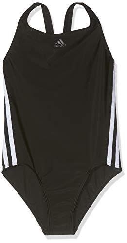 Adidas Mädchen Athly 3-Streifen Badeanzug, Black/White, 140