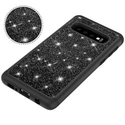 SHRHSJSJK Für Samsung Galaxy s10 s10e s10 Plus lite case Bling rüstung 2 in 1 Glitter Diamant weiche silikon hybrid pc Phone case Abdeckung