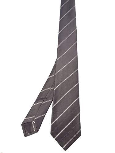 Kiton Herren 1E313grey Grau Seide Krawatte