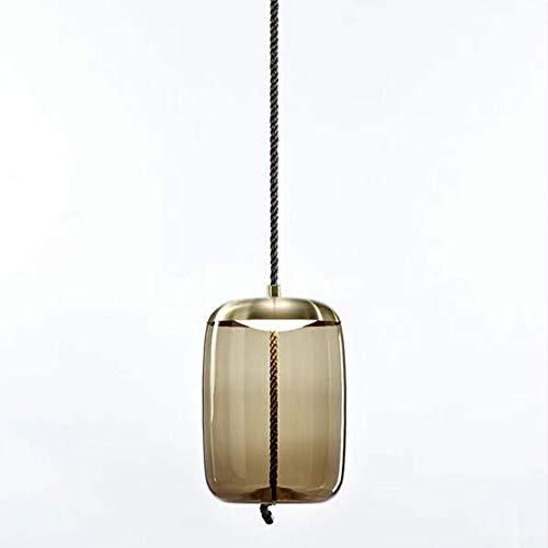 BROKIS Knot Pendant Lights Glass Pendant Lamp Living Room Bedroom Bedside Lights Scandinavian Luminaire Suspendu Hanging Lights,style D,Amber,Warm White