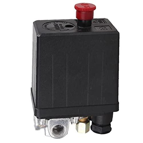 Válvula de control de presión de compresor de aire Regulador del interruptor 90-120 PSI 4 PORT 240V 16A Accesorio Durable