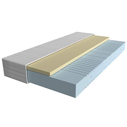AM Qualitätsmatratzen - Visco-Matratze 100x200cm -H3 - Hochwertige Matratze mit 4cm Visco-Auflage - 20cm Höhe - Made in Germany
