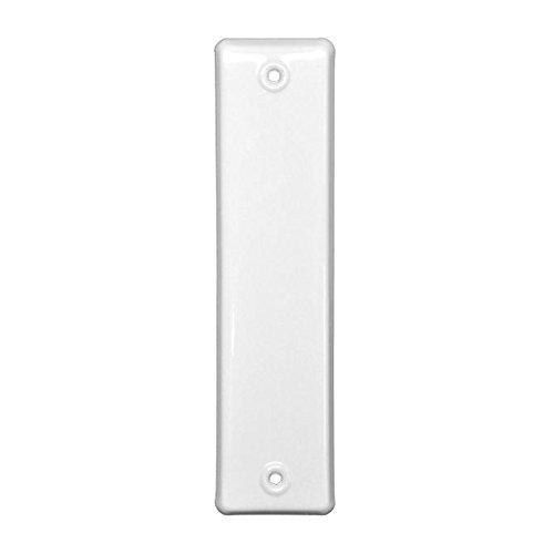 Gurtwicklerblende Rolladengurt-Abdeckung, geschlossen, Weiß, Lochabstand 160 mm, 1 Stück