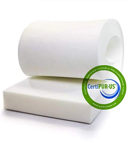 "Isellfoam Upholstery Foam Cushion 4"" H x 30"" W x 80"" L 36ILD (Semi Firm) Upholstery Foam High Density CertiPUR-US Certified Foam, Made in USA"
