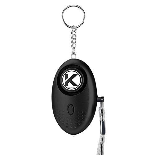 Kadima Collection Personal Keychain Alarm Emergency Self Defense Alarm for Women Personal Security Alarm Self Defense Emergency LED Flashlight for Men, Women, Kids,Girls & Elderly 140DB (Black)