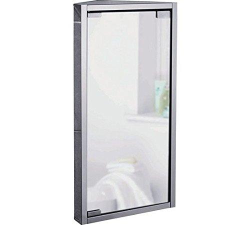 Acciaio inossidabile piccolo bagno ad angolo con specchio